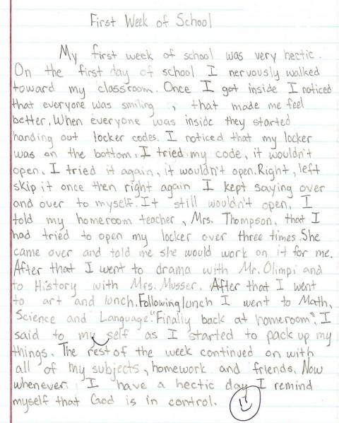 015 Essay Example Sample1a 8th Grade Phenomenal Topics Narrative Us History Questions 480