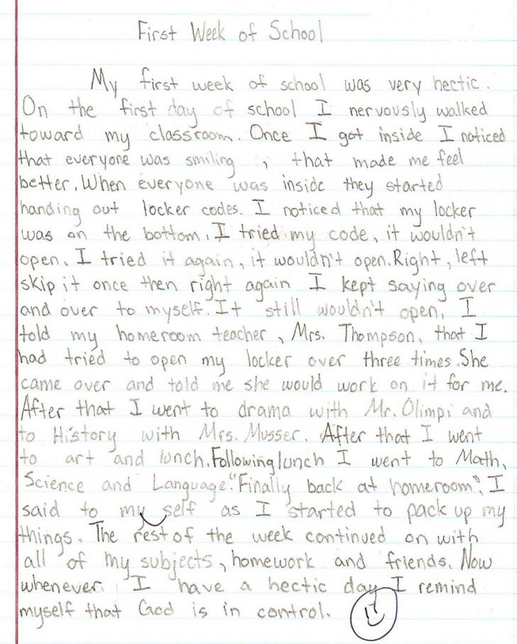 015 Essay Example Sample1a 8th Grade Phenomenal Topics Narrative Us History Questions 728