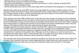 015 Essay Example Sat Writing Tips On Fascinating Pdf