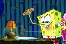 015 Essay Example Spongebob Meme Writing His Term Paper Help Bkhomeworkqvci Dedup Info Maxresde Stirring Generator Font