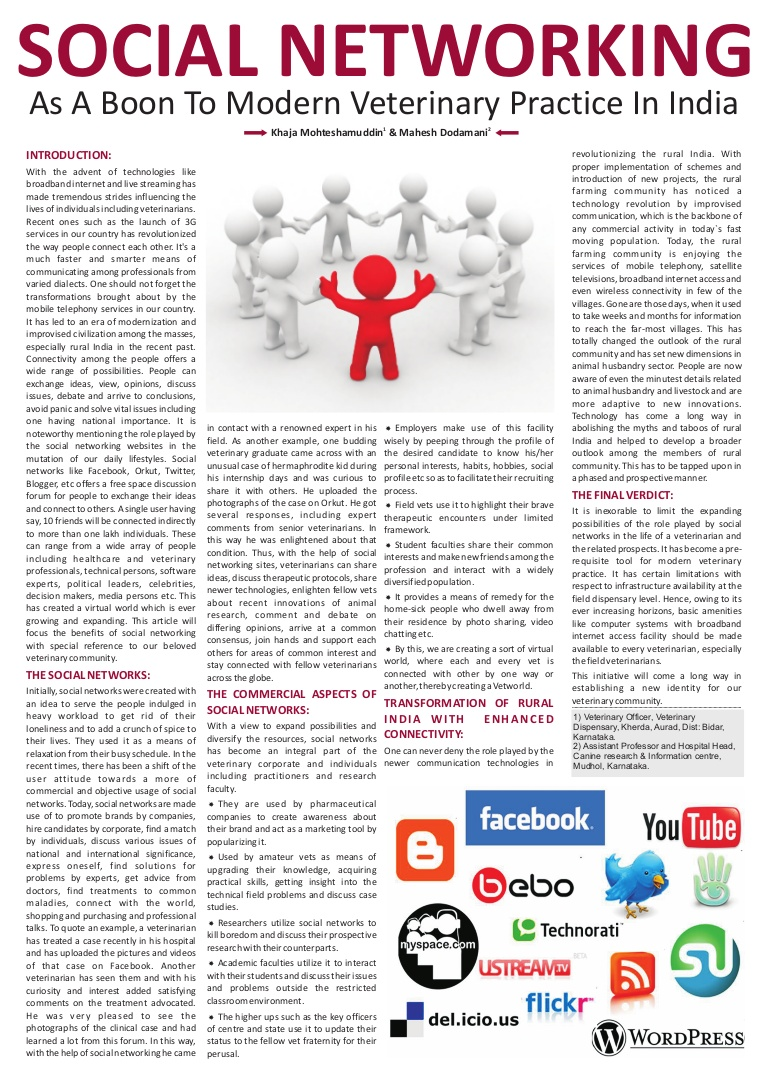 015 Essay Examplesocialnetworking Phpapp02 Thumbnail Pros And Cons Of Social Media Fantastic Pdf Full