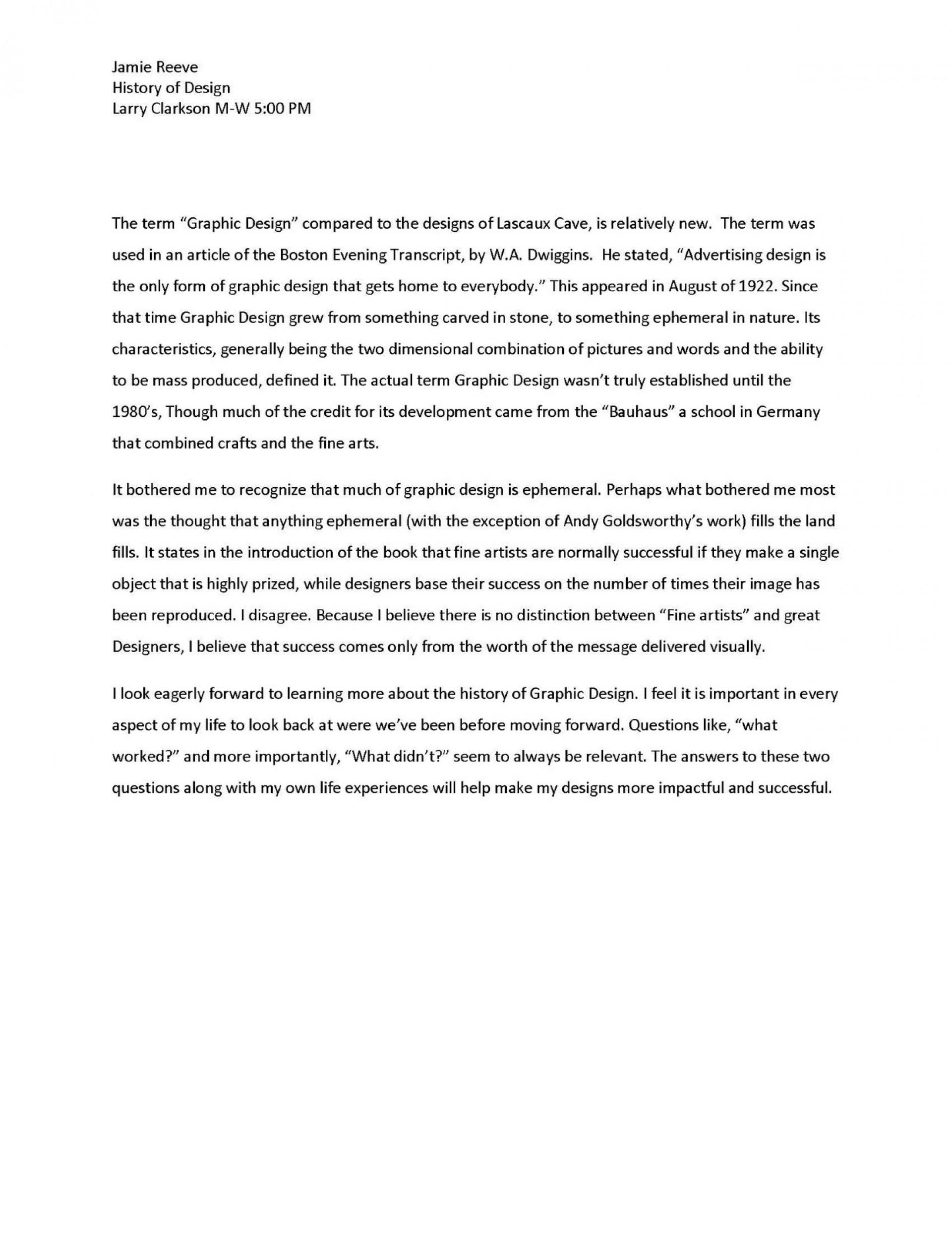 015 Essay1designhistory Page 2 Essay Example This I Believe Impressive Outline 1920