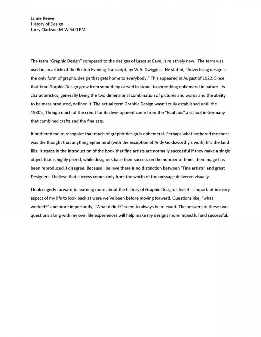 015 Essay1designhistory Page 2 Essay Example This I Believe Impressive Outline