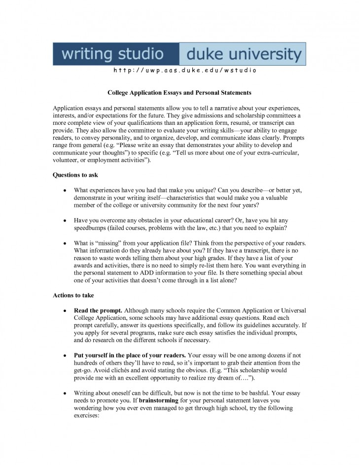 015 Example Of Personal Essay For College Application Narrative About Examples The Format Template Entrance Sample Topics Stupendous Opinion Definition Common App High School 728
