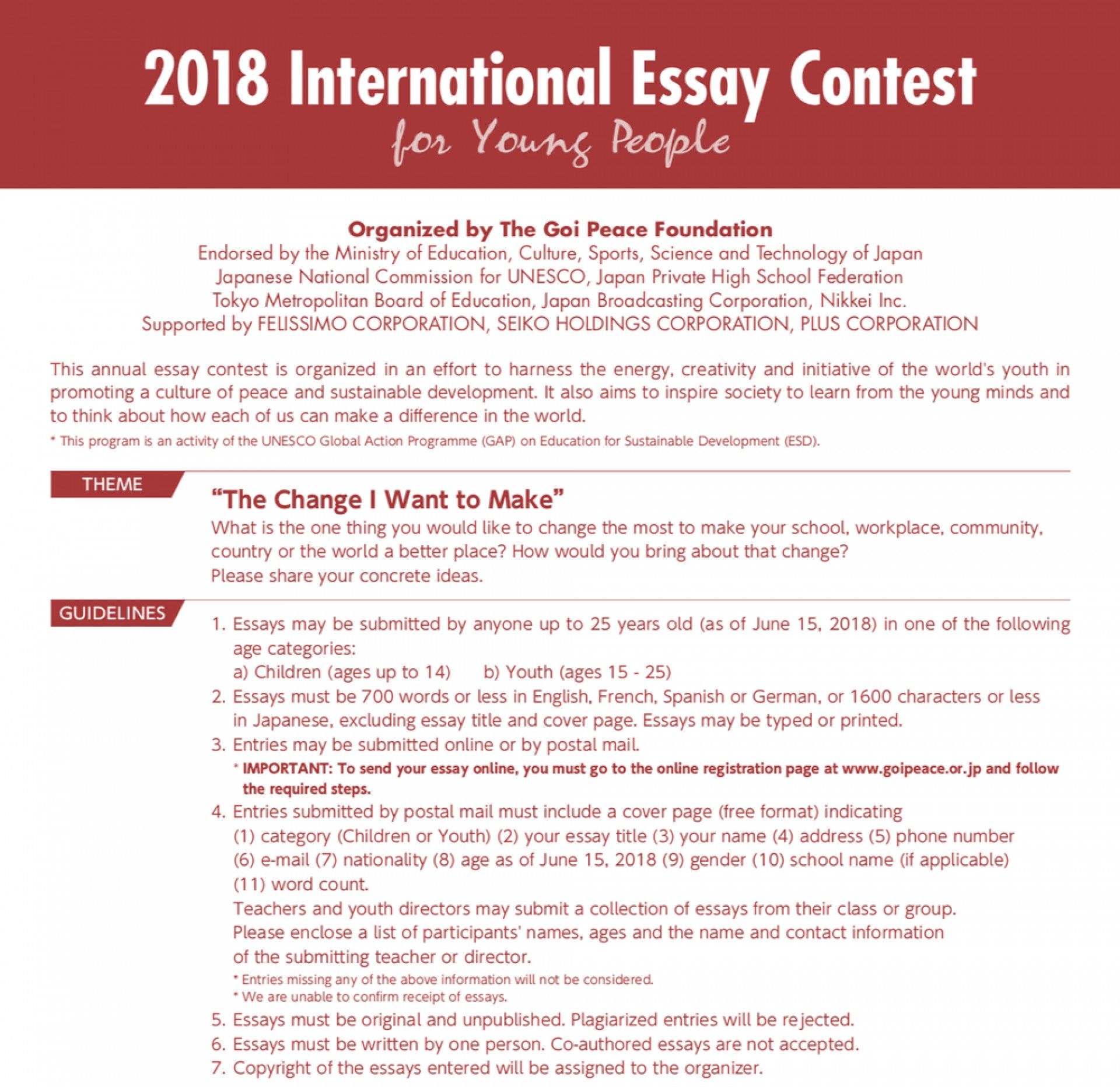 015 File Essay Example National Peace Marvelous Contest 2019 1920