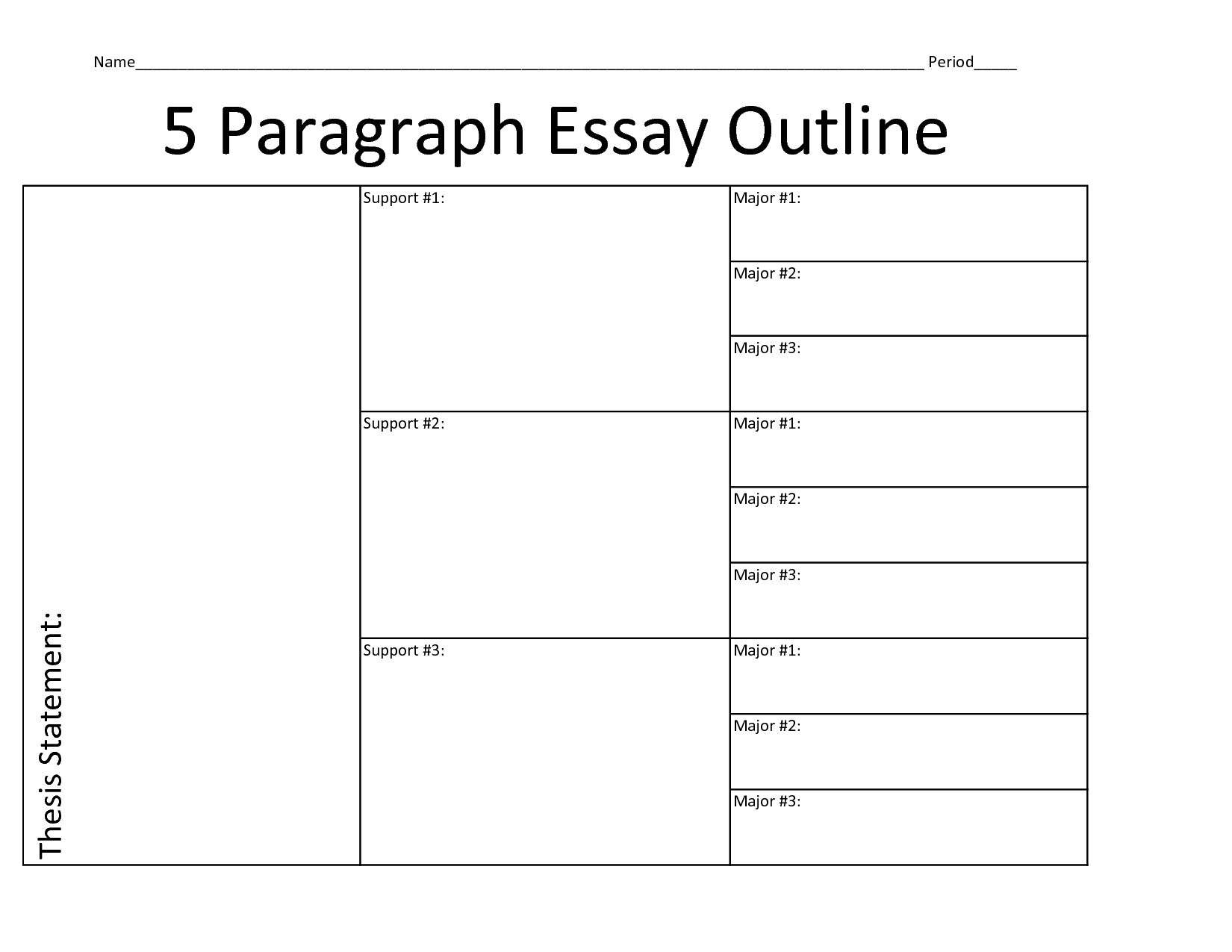 015 Five Paragraph Essay Graphic Organizer Organizers Executive Functioning Mr Brown039s Outline L Wonderful 5 Middle School Doc Full