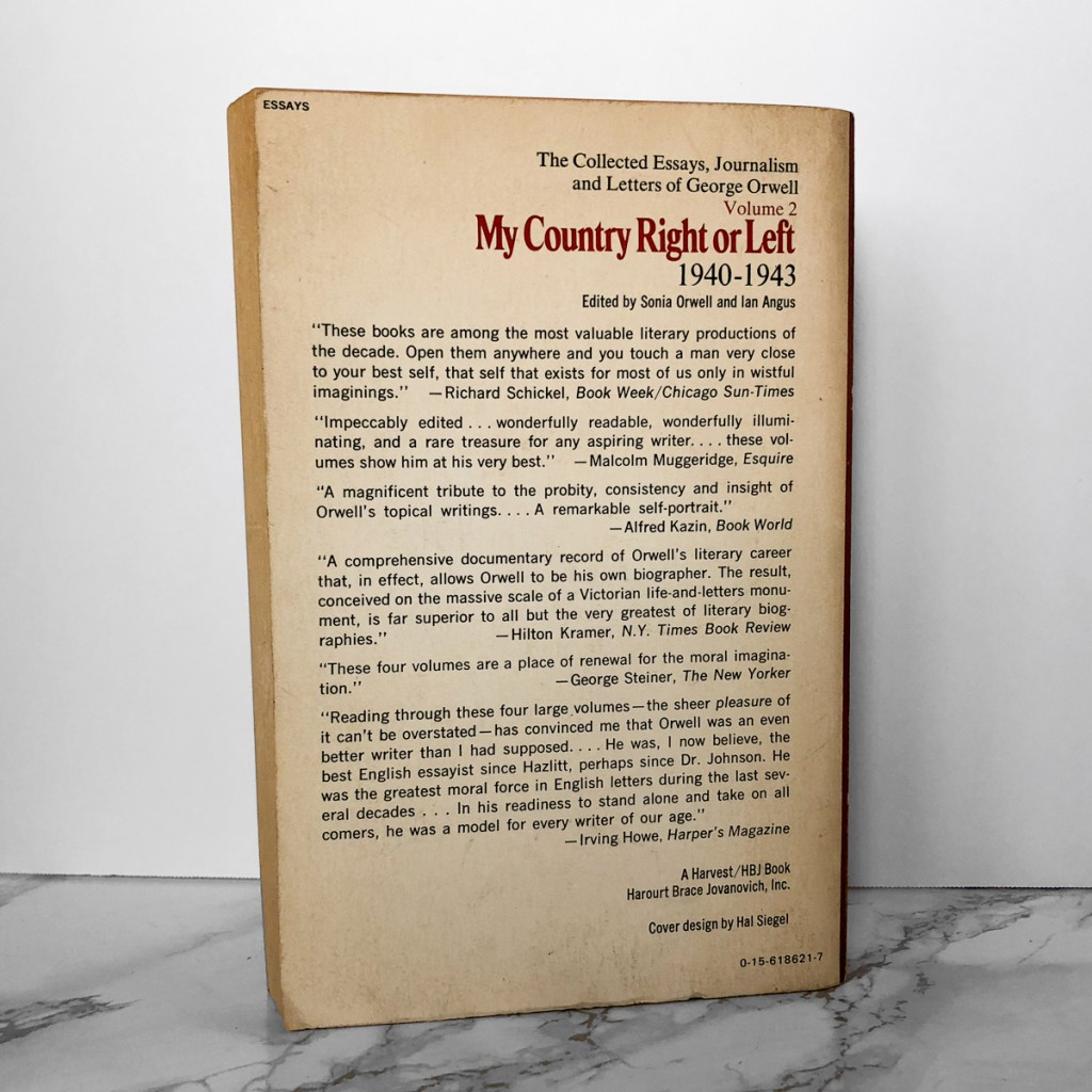 015 George Orwell Essays Mycountryleft 2 1200x1200v1546514406 Essay Frightening 1984 Summary Collected Pdf On Writing Large