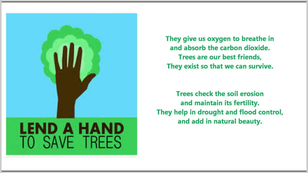 015 How Can We Save Trees Essay Example Of Our Best Friends Poem For Marvelous To In Hindi Telugu Large
