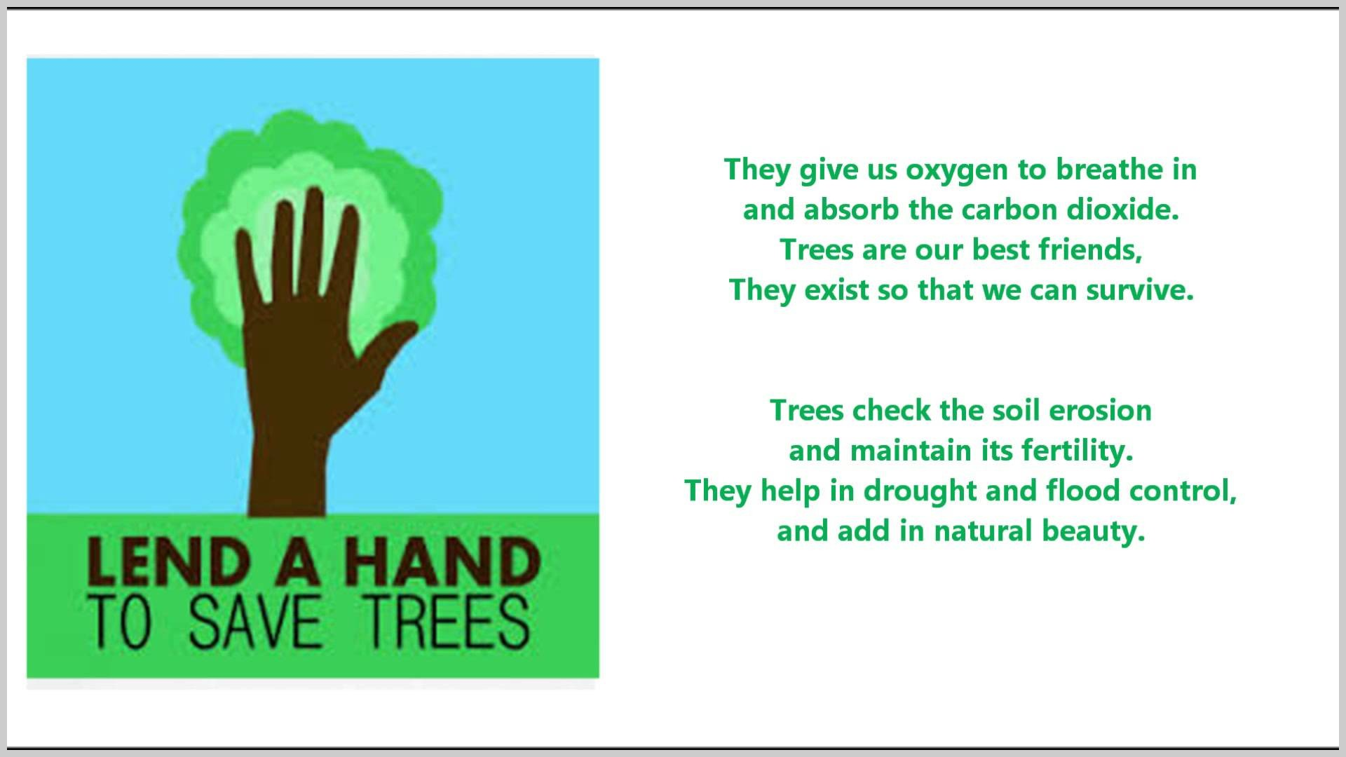 015 How Can We Save Trees Essay Example Of Our Best Friends Poem For Marvelous To In Hindi Telugu Full