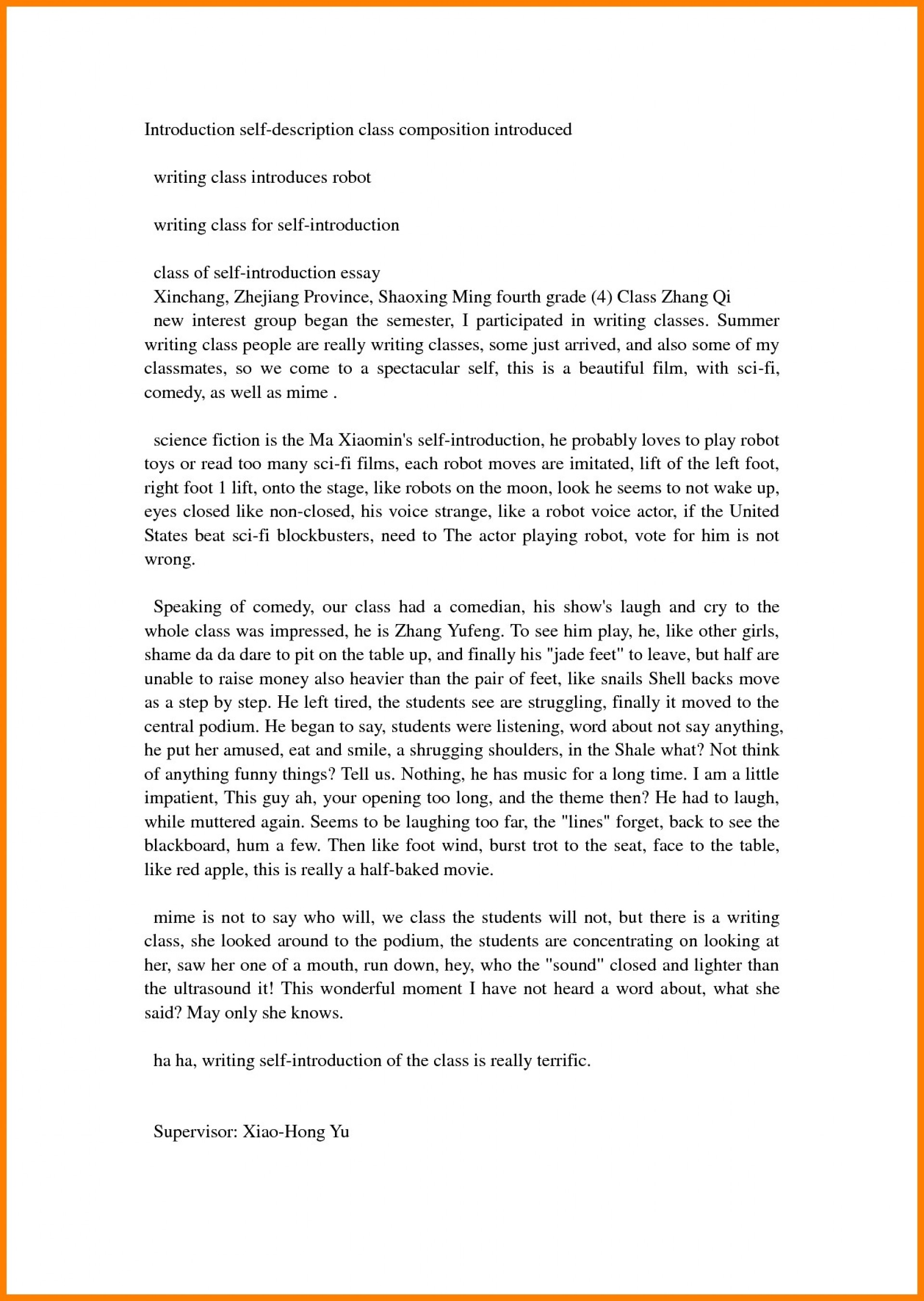 015 How To Write Ann Letter About Yourself Essay Myself Of Example Striking Introduction Introduce Apply Job With Body And Conclusion 1920