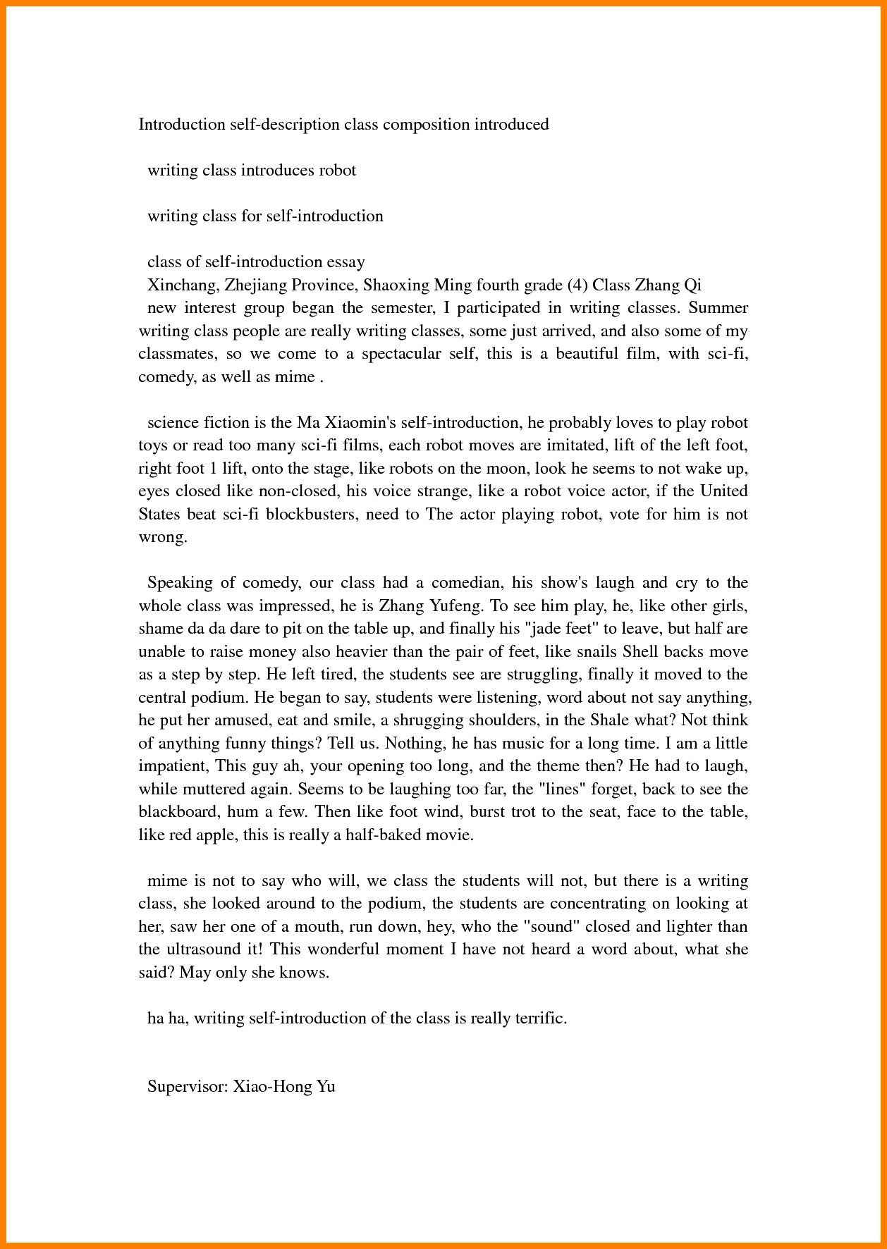 a letter to myself example sample essay about myself introduction pdf write essay 23980