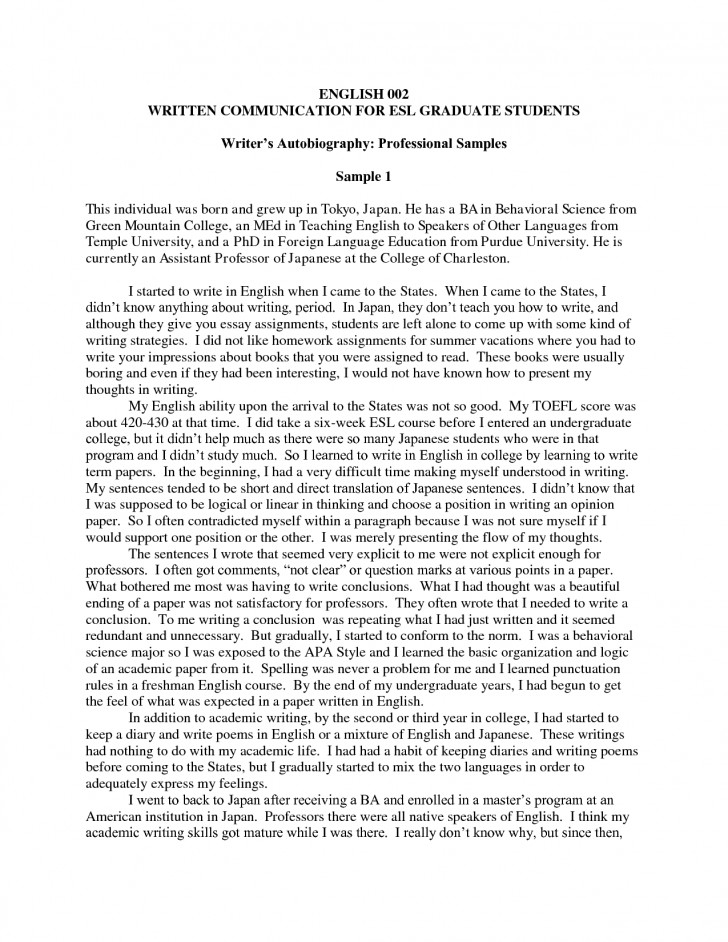 015 How To Write Autobiography Essays Of Authobiography Exceptional A Essay An Introduction Autobiographical For College Grad School 728