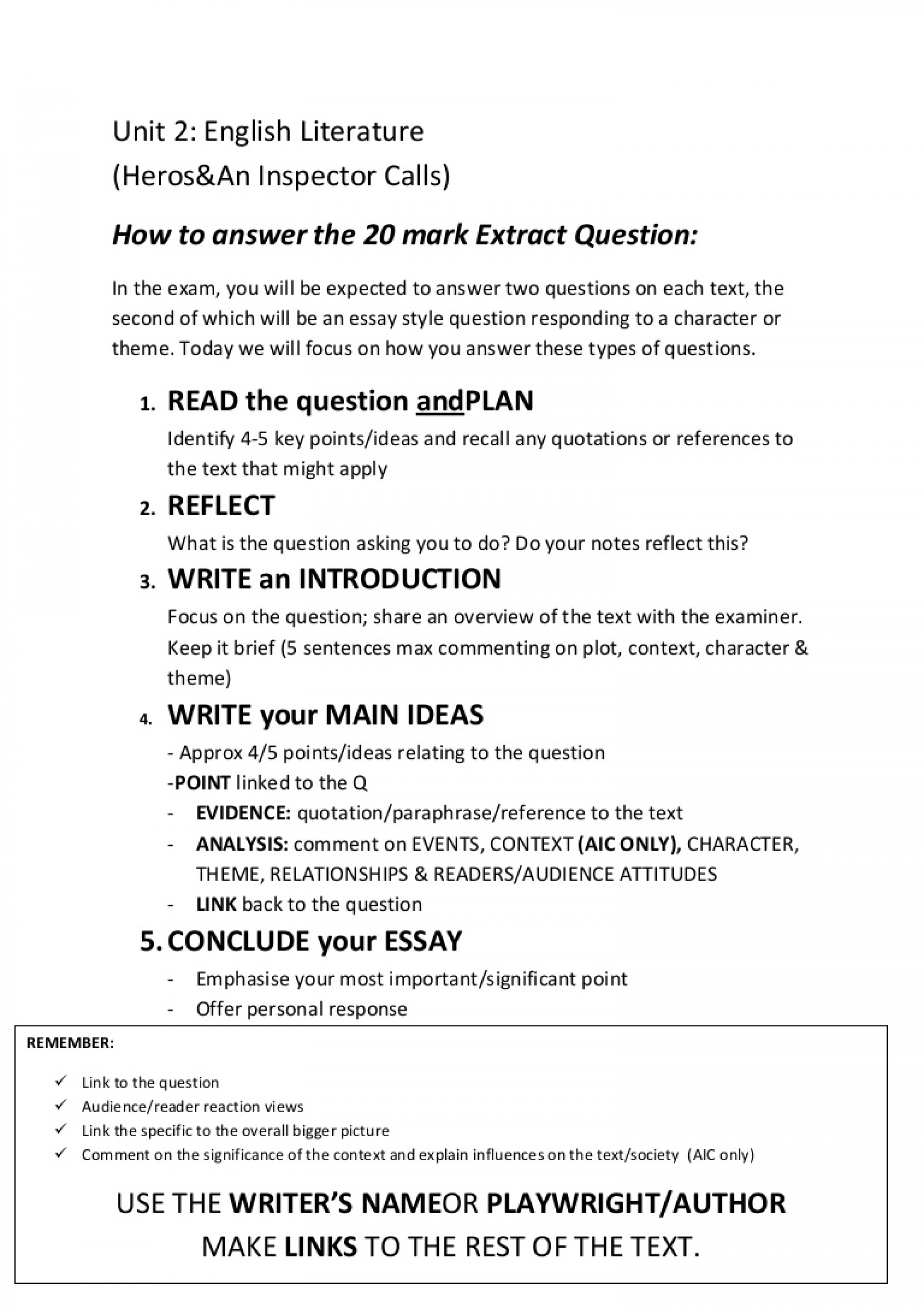 015 Howtoanswerthe20markquestion Phpapp02 Thumbnail Essay Example Impressive Response Format Definition Conclusion 1920