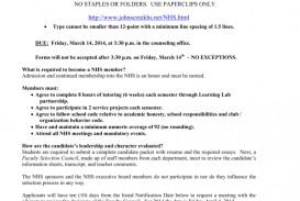 015 National Honor Society Application Essay 008823851 1 Sensational Junior Ideas Examples