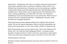 015 Paraphrase Essay Page 1 Stirring Means On Criticism Paraphrasing Topics