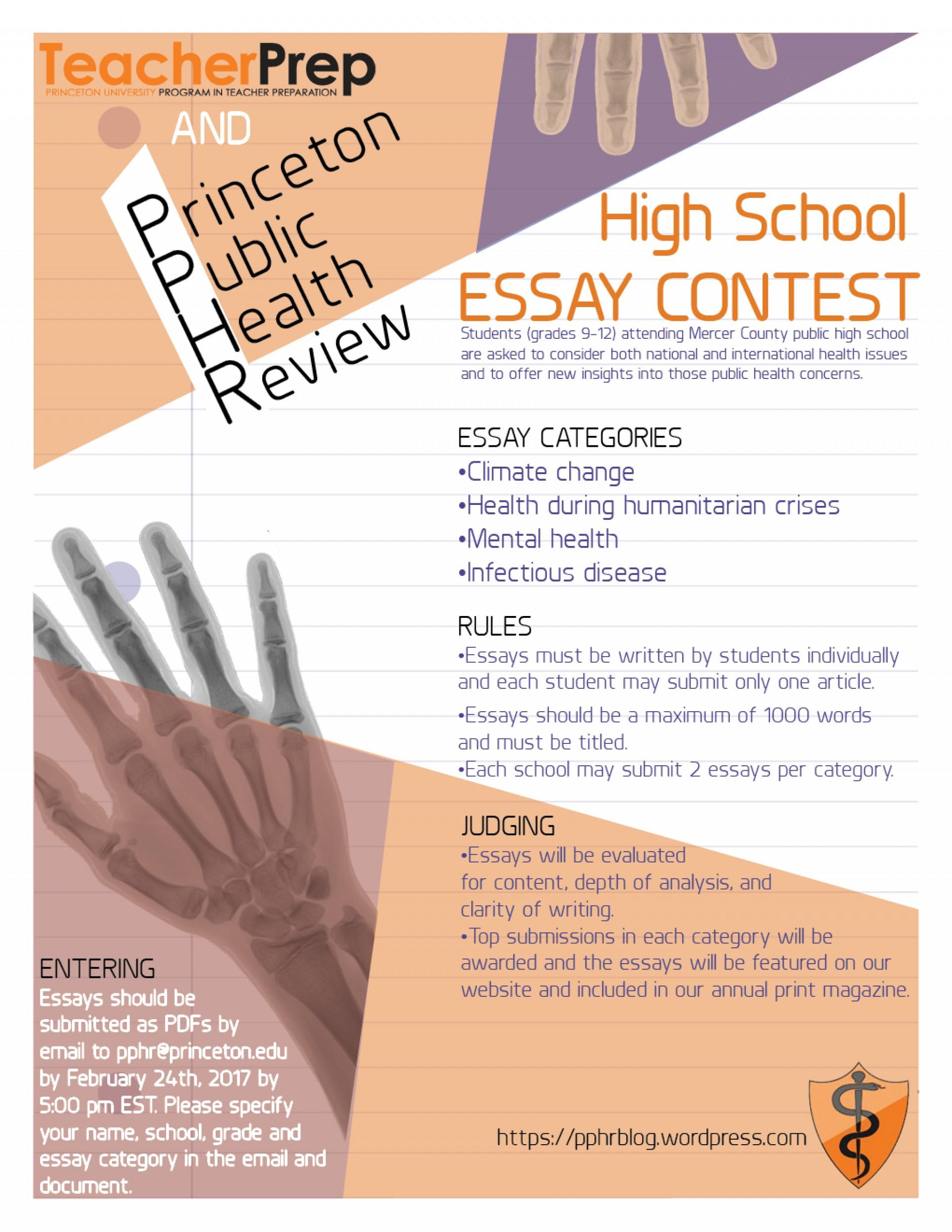 015 Princeton Essay Pphressaycontestfeb24 Astounding Review College Guide Graded Confidential 1920