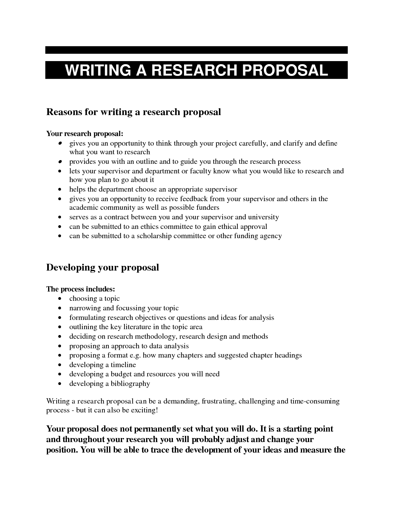 Research proposal paper examples topics