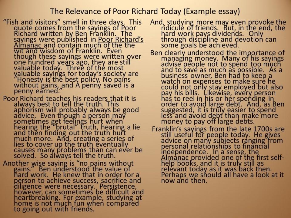 Essay on service and sacrifice