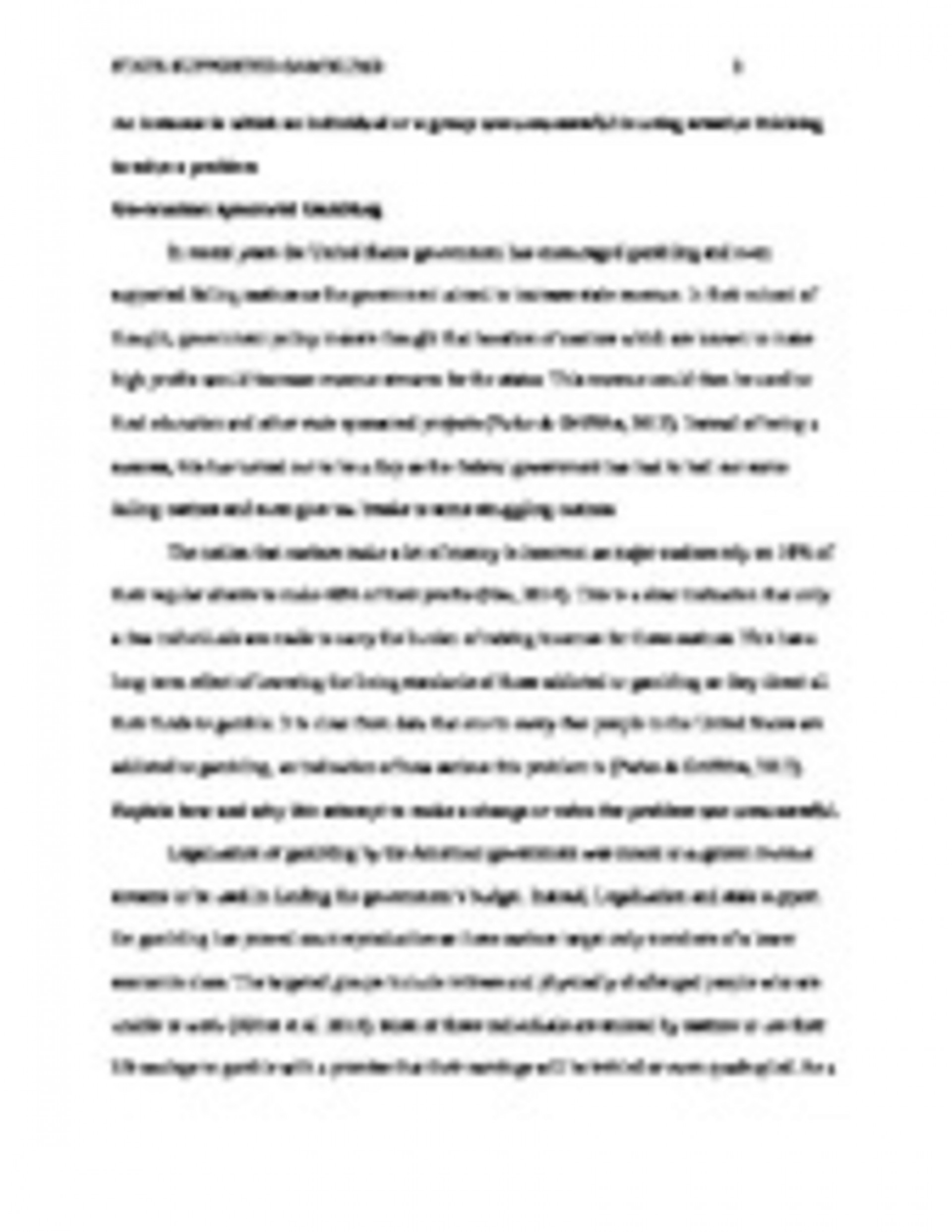 015 State Supported Gamblingpage1 Word Essay Unforgettable 700 Format About Myself Sample 1920