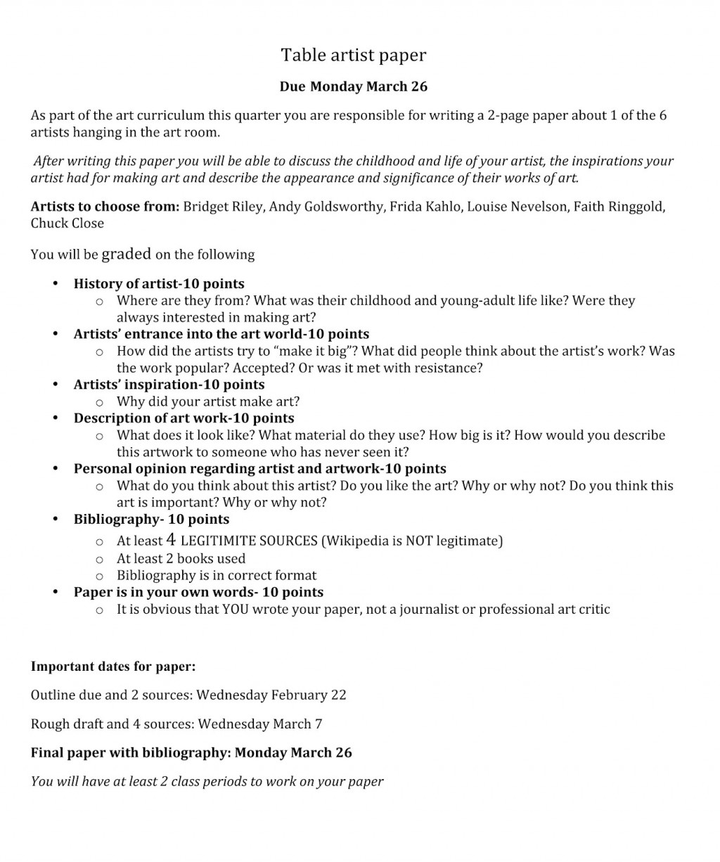 015 Table20artist20paper Essay Example Outline Impressive Guide Layout Mini-q Answers Dbq Large