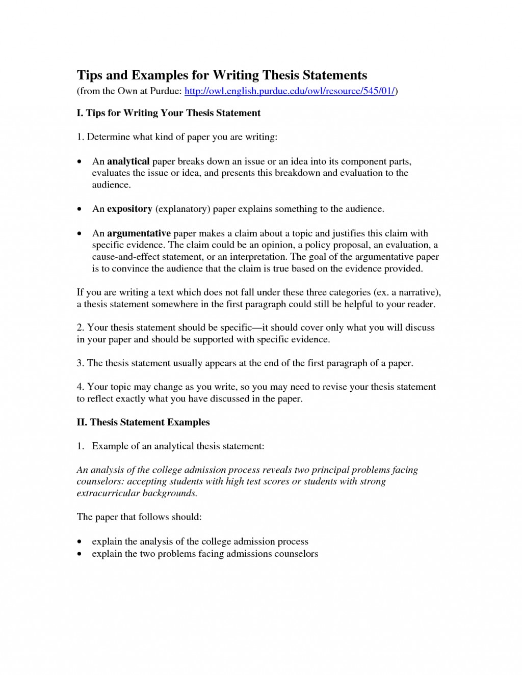 015 The Thesis Statement Or Claim Of An Argumentative Essay Should Outstanding Quizlet Large
