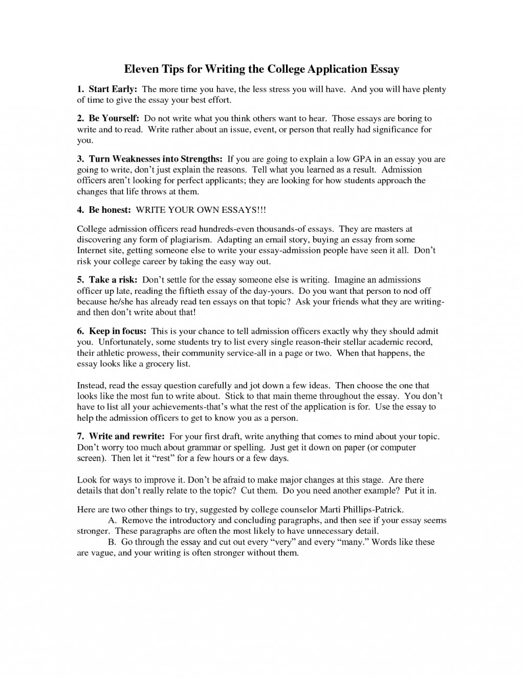 015 Tips For Writing College Application Essays Essay Example Fantastic Best Large