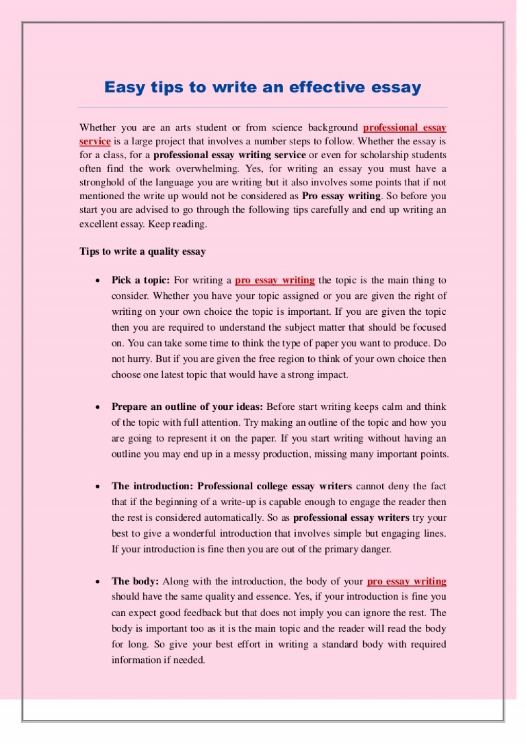 015 Tips To Write Good Essay Example Easytipstowriteaneffectiveessay Thumbnail Marvelous A Narrative Persuasive In Exam Large