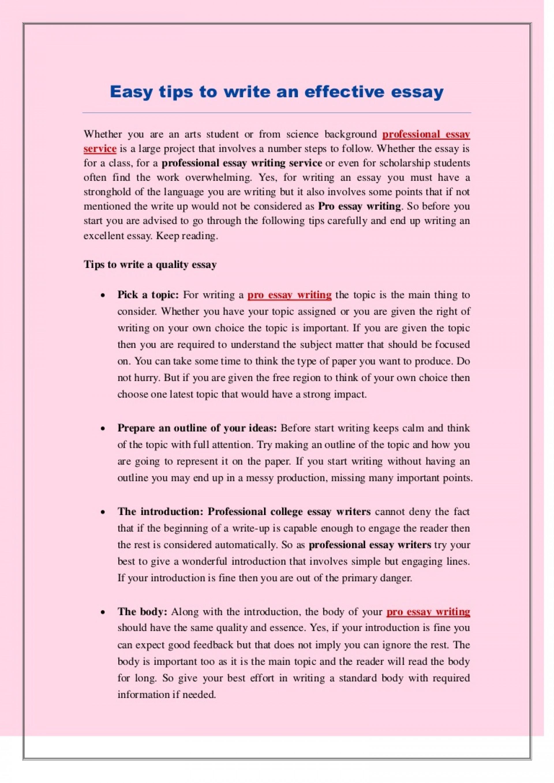 015 Tips To Write Good Essay Example Easytipstowriteaneffectiveessay Thumbnail Marvelous A Sat Descriptive Narrative 1920