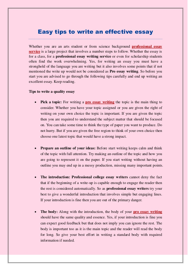 015 Tips To Write Good Essay Example Easytipstowriteaneffectiveessay Thumbnail Marvelous A Sat Descriptive Narrative Full