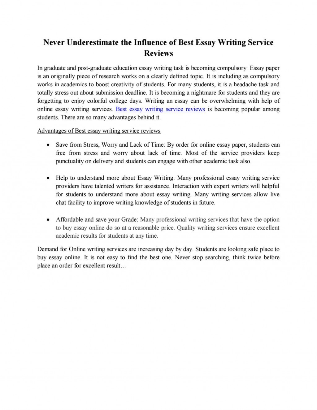 015 Top Essay Writing Reviews Page 1 Unique Large