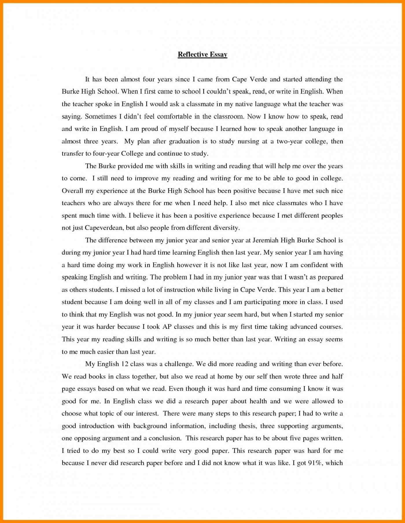 English Creative Writing Essays  Mental Health Essays also High School Essays Example Of Term Paper Proposal  Floss Papers Example Thesis Statements For Essays