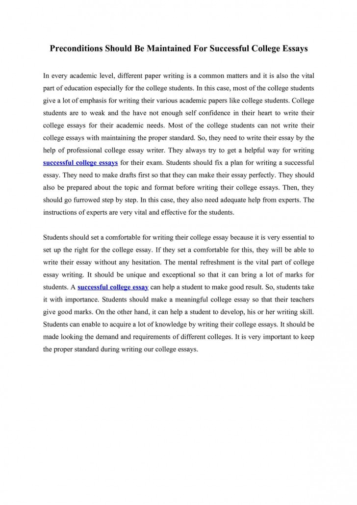 015 What Not To Write About In College Essay Example Preconditions Should Maintained For Successful Things Ess Application How Frightening Your Admissions 728