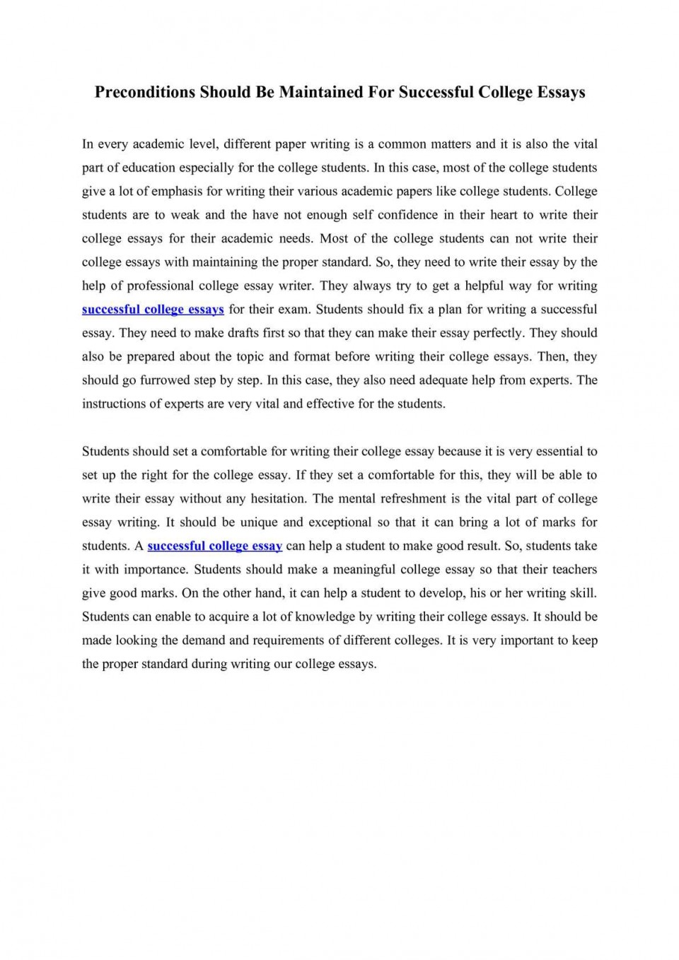 015 What Not To Write About In College Essay Example Preconditions Should Maintained For Successful Things Ess Application How Frightening Your Admissions 960