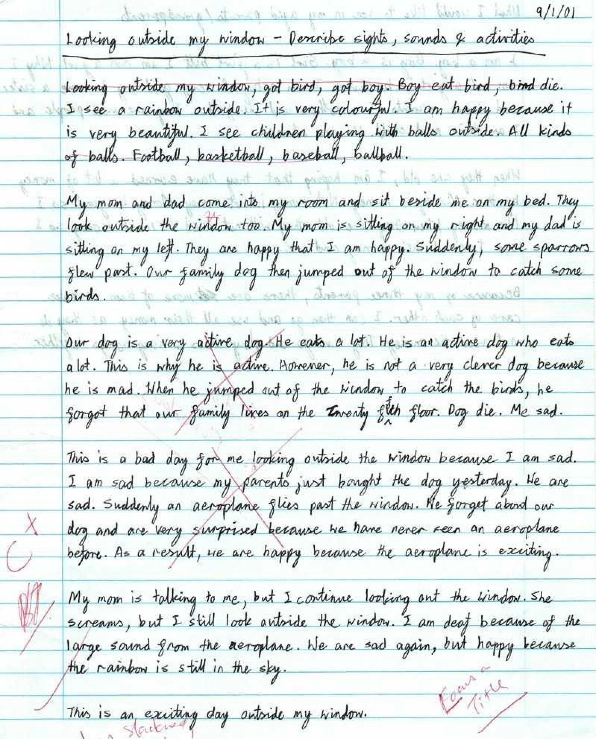 examples of bad college essays