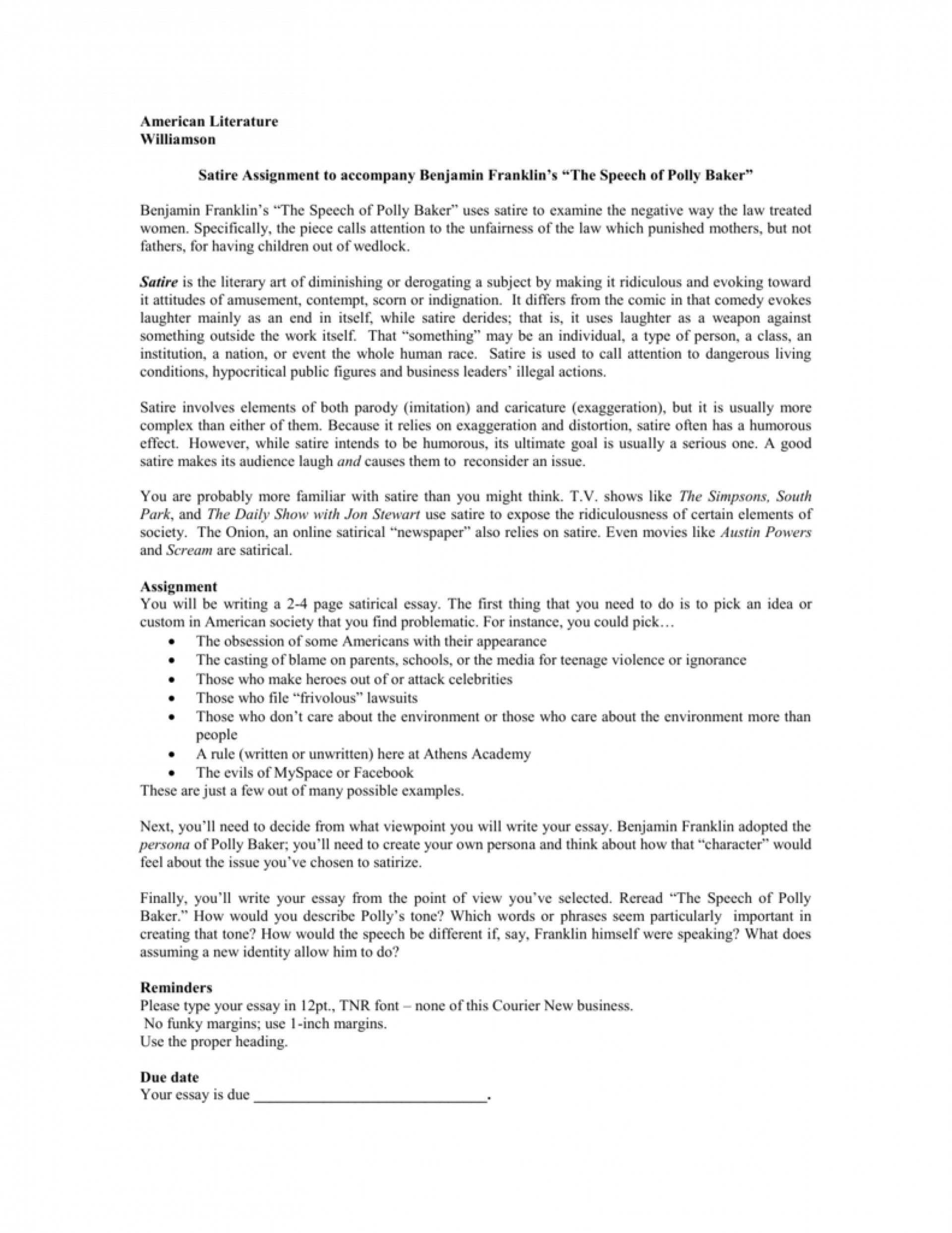 016 008005442 1 Essay Example How To Write Fascinating A Satire On Obesity Outline Essay-example 1920
