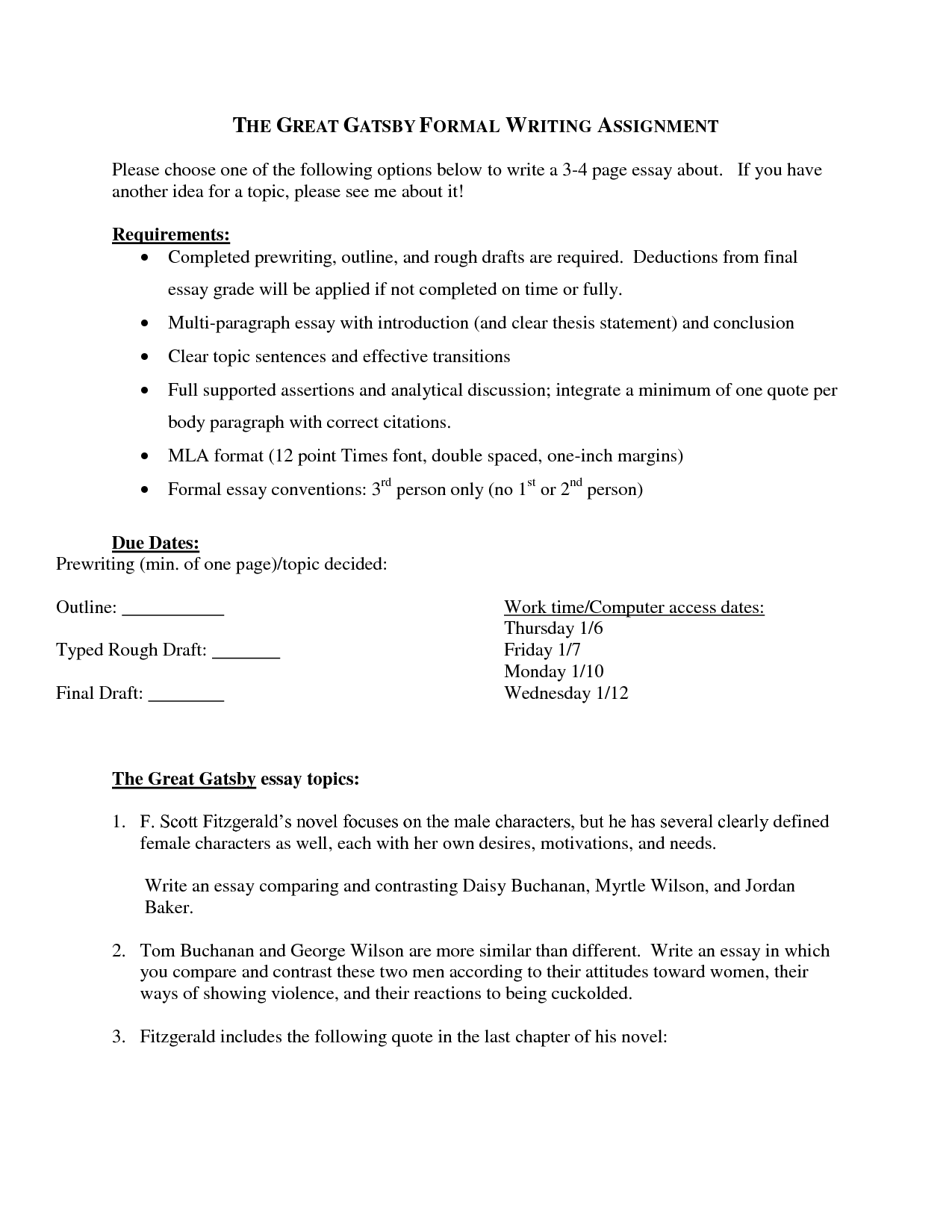 016 2571091230 Thesis On Great Gatsby Essay Example One Paragraph Magnificent Topics