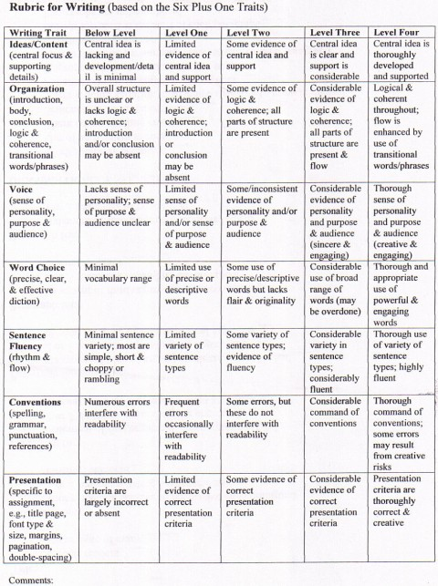 016 5paragraphrubric Compare And Contrast Essay Rubric Wondrous 3rd Grade High School 480