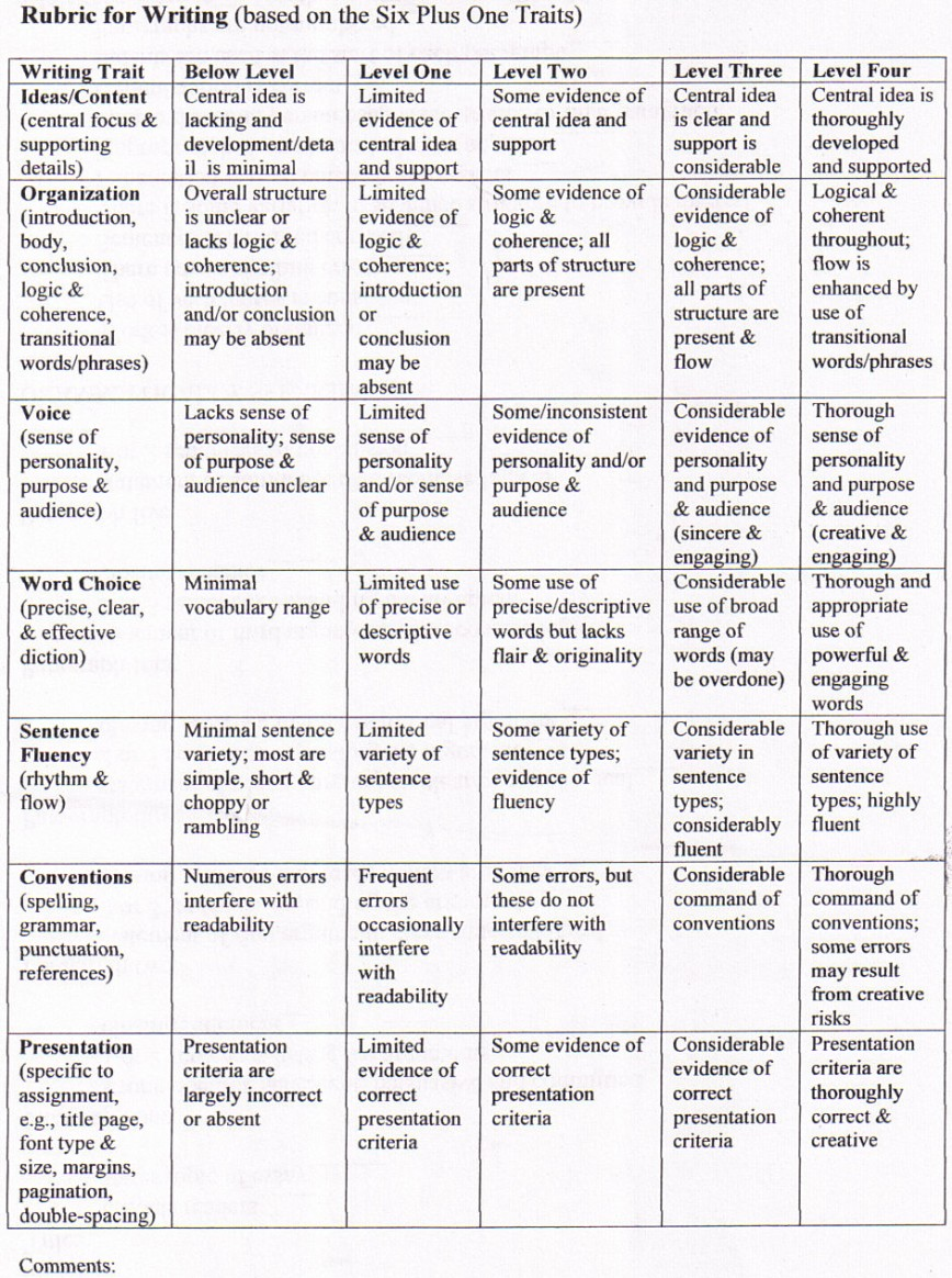 016 5paragraphrubric Compare And Contrast Essay Rubric Wondrous 3rd Grade High School 868