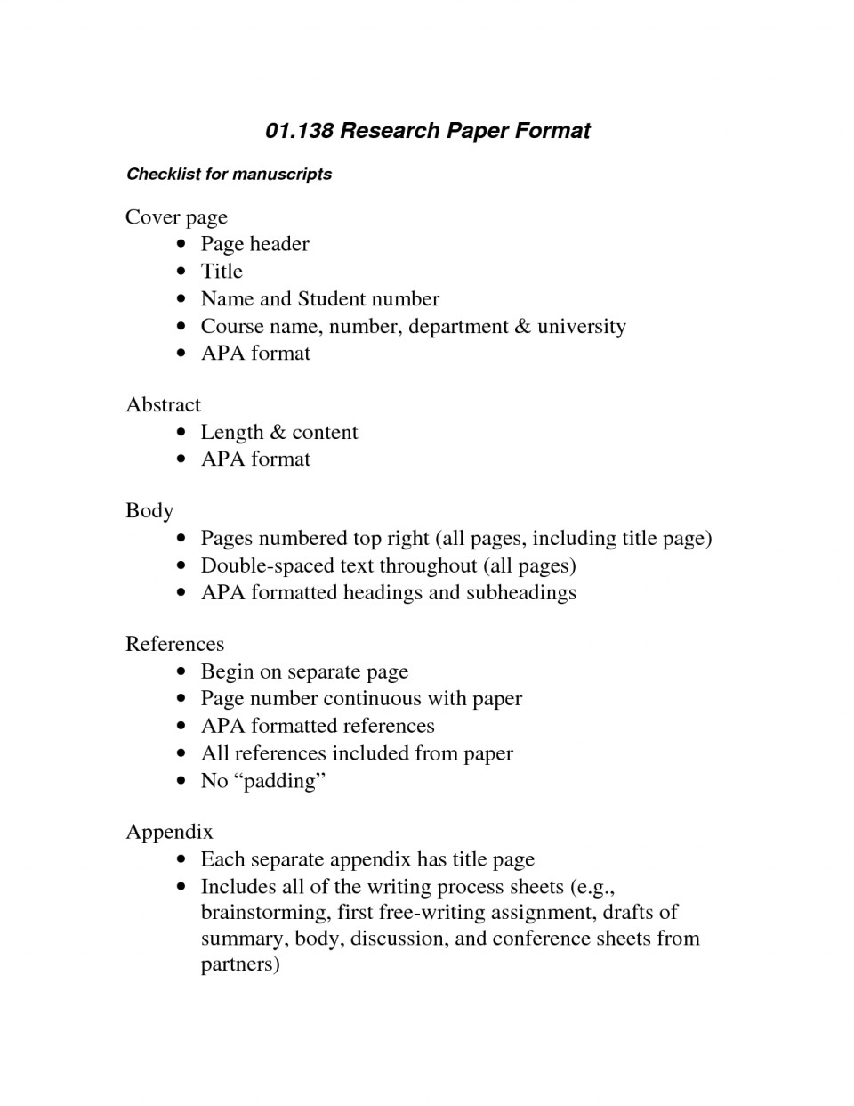 016 Apa Format Example Phenomenal Essay Sample Paper For College With Abstract 960
