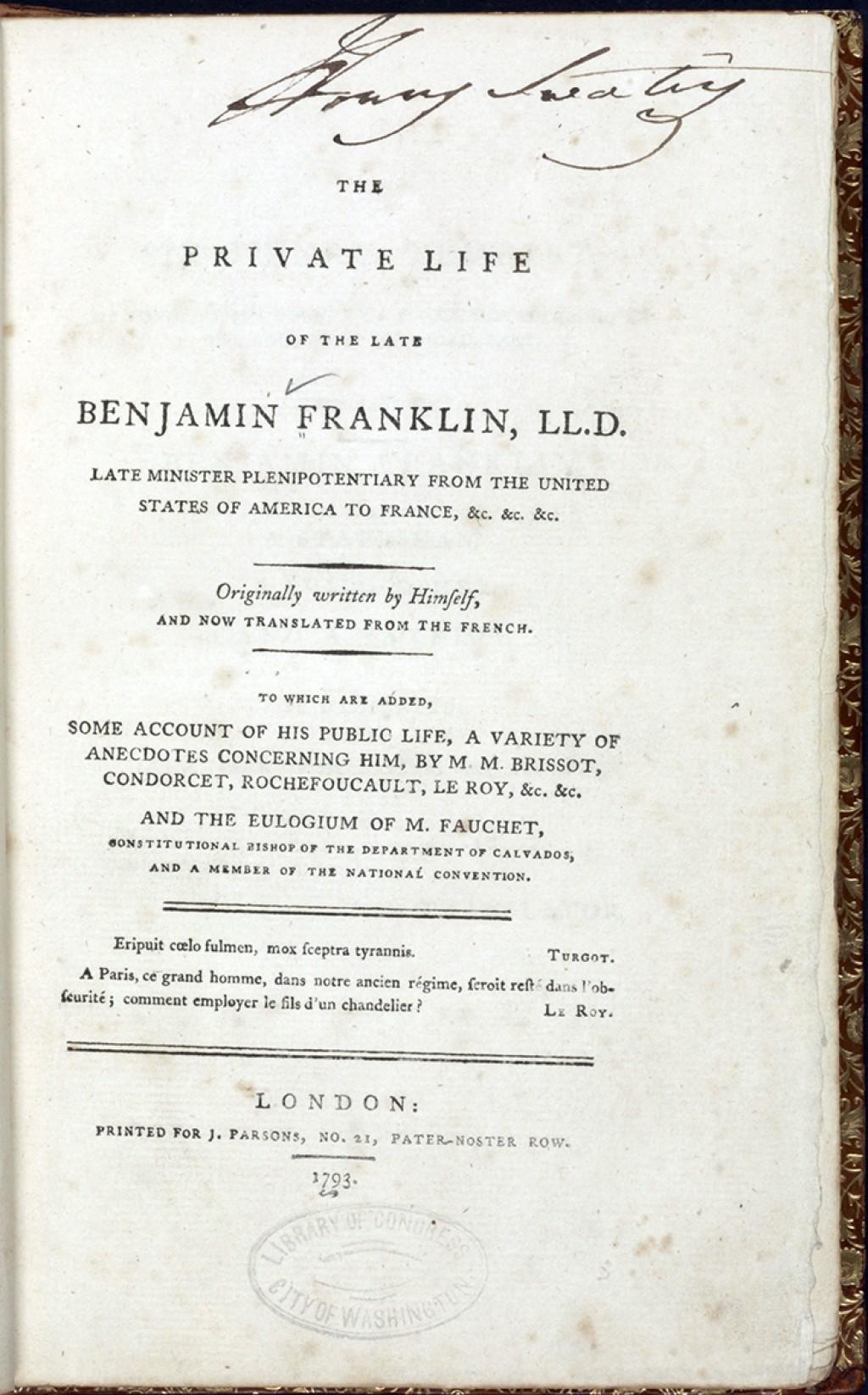 016 Ba0009 Enlarge Benjamin Franklin Essay Unbelievable Thesis Statement Conclusion Large