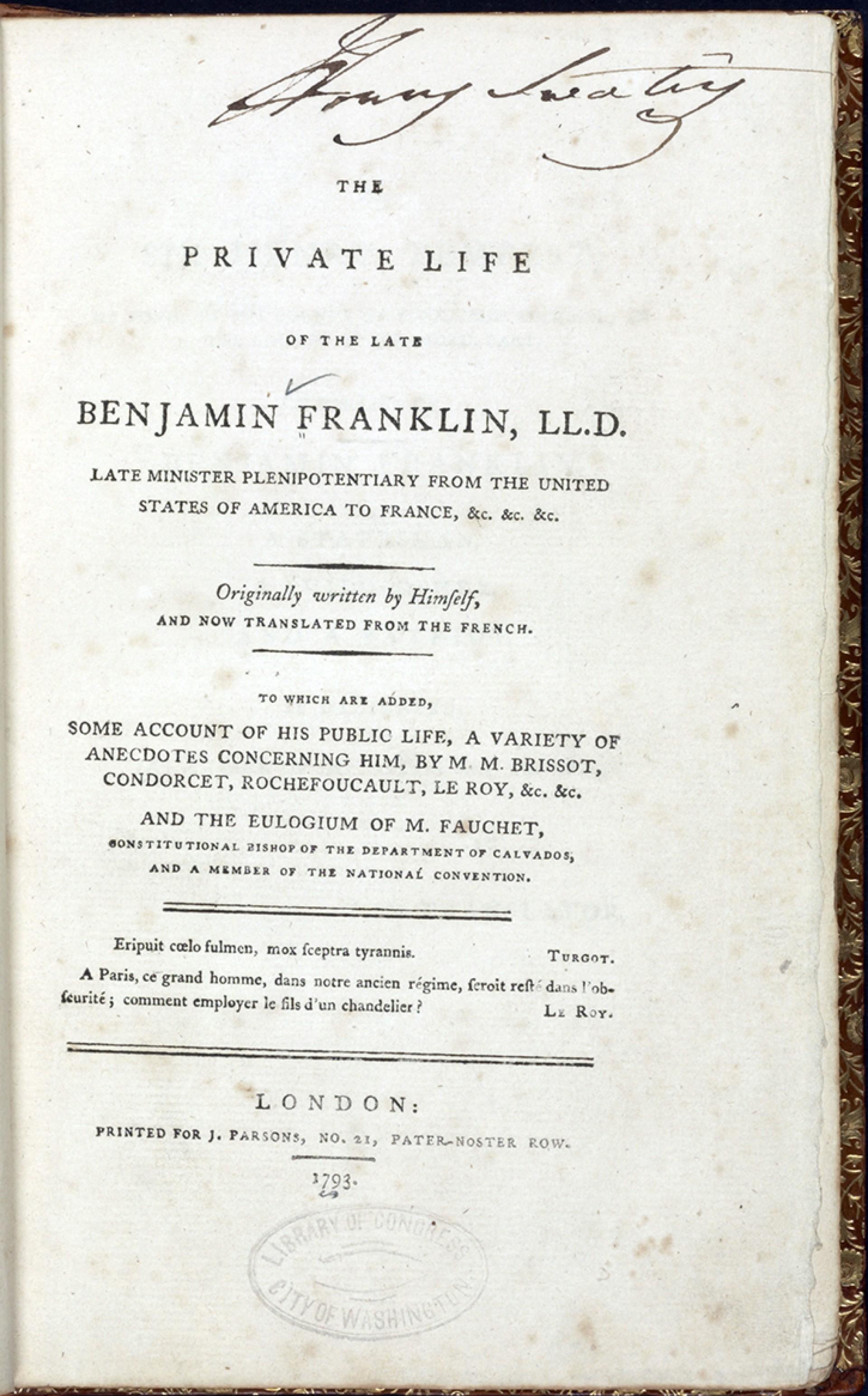 016 Ba0009 Enlarge Benjamin Franklin Essay Unbelievable Thesis Statement Conclusion 1920
