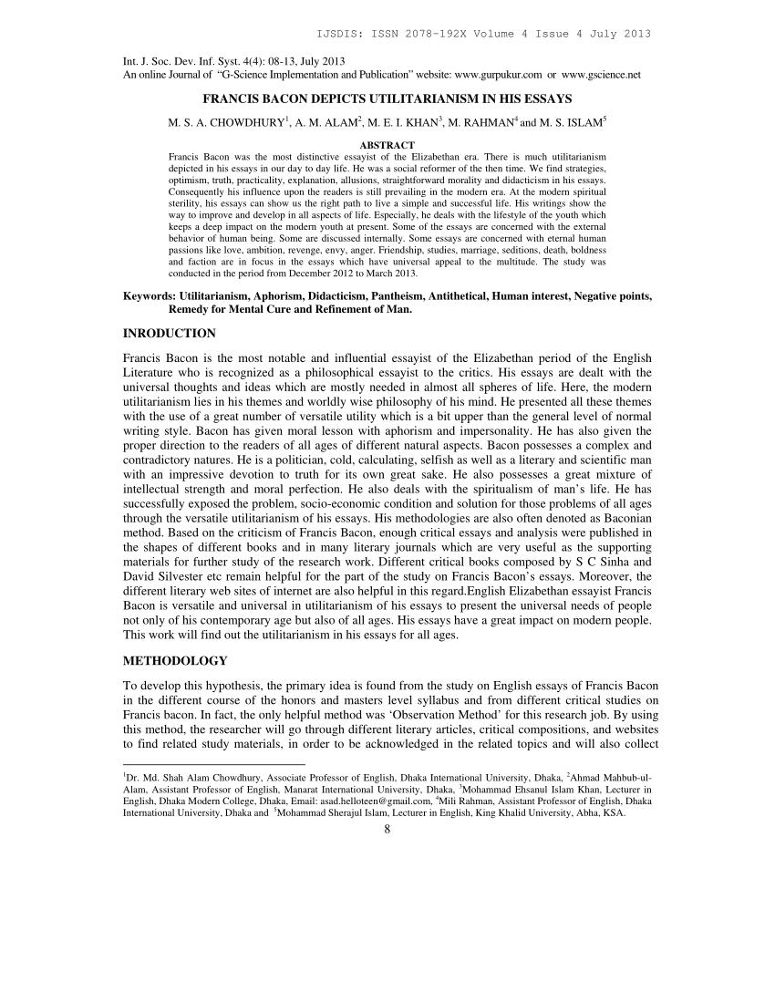 016 Bacons Essays Essay Example Amazing Bacon In Urdu Pdf Of Truth Summary Full