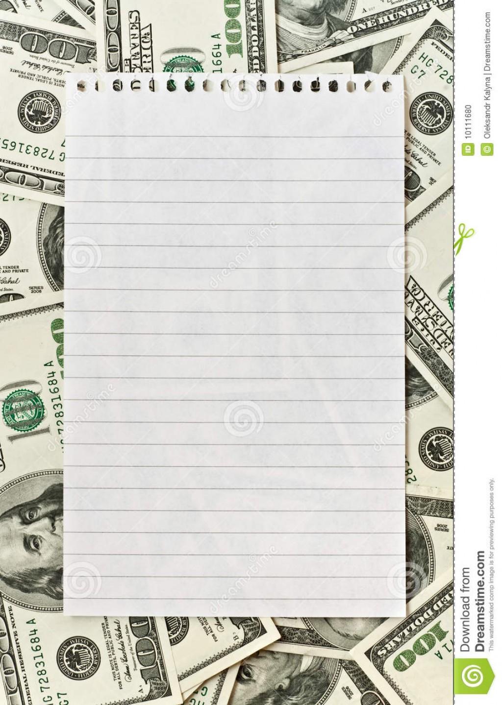 016 Blank White Paper Over Money Background Write Essays For Essay Best University High School Reddit Large