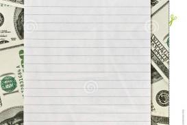 016 Blank White Paper Over Money Background Write Essays For Essay Best University High School Reddit