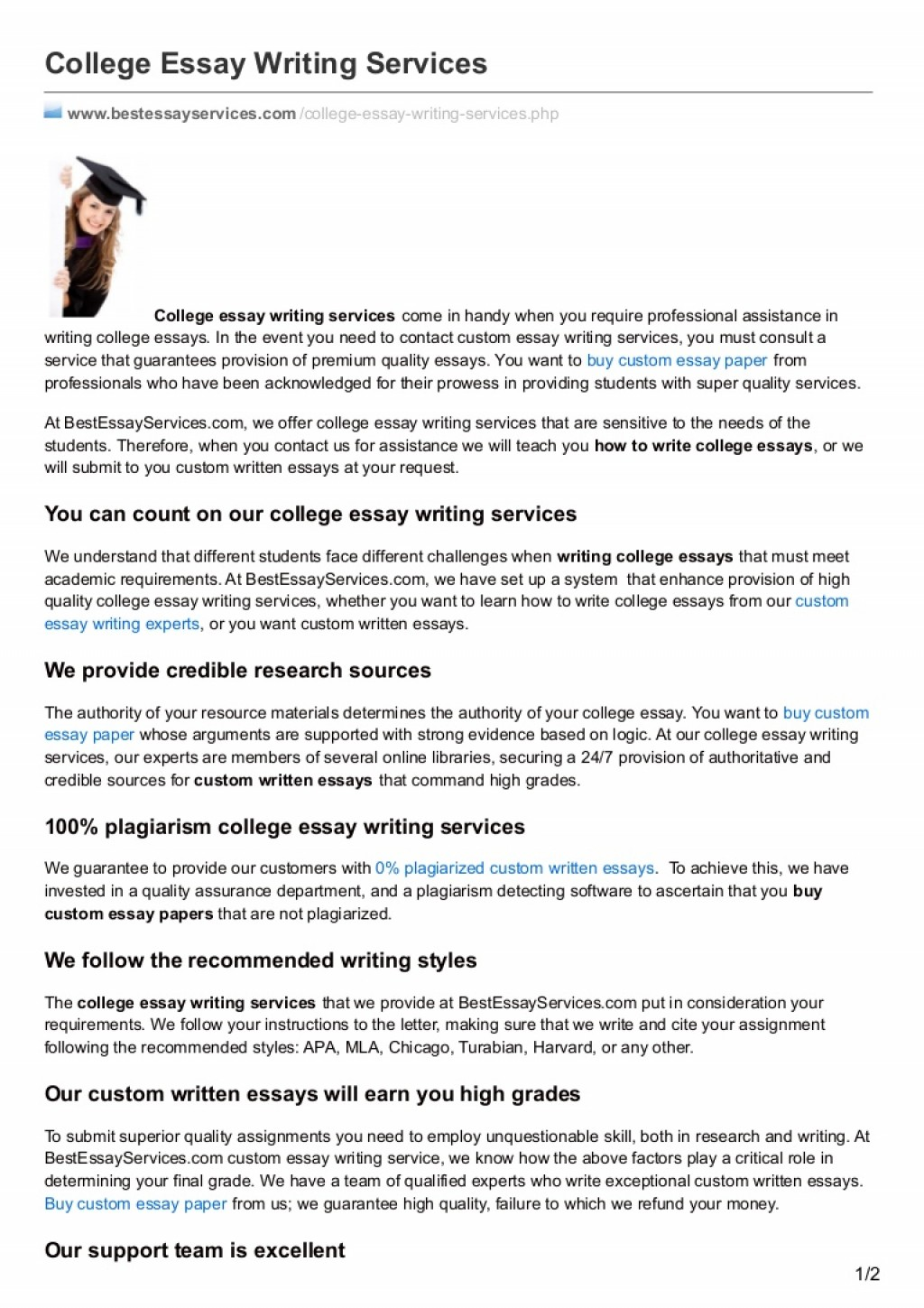 016 College Essay Service Example Bestessayservices Thumbnail Awful Writing Reviews Services Cheap Large