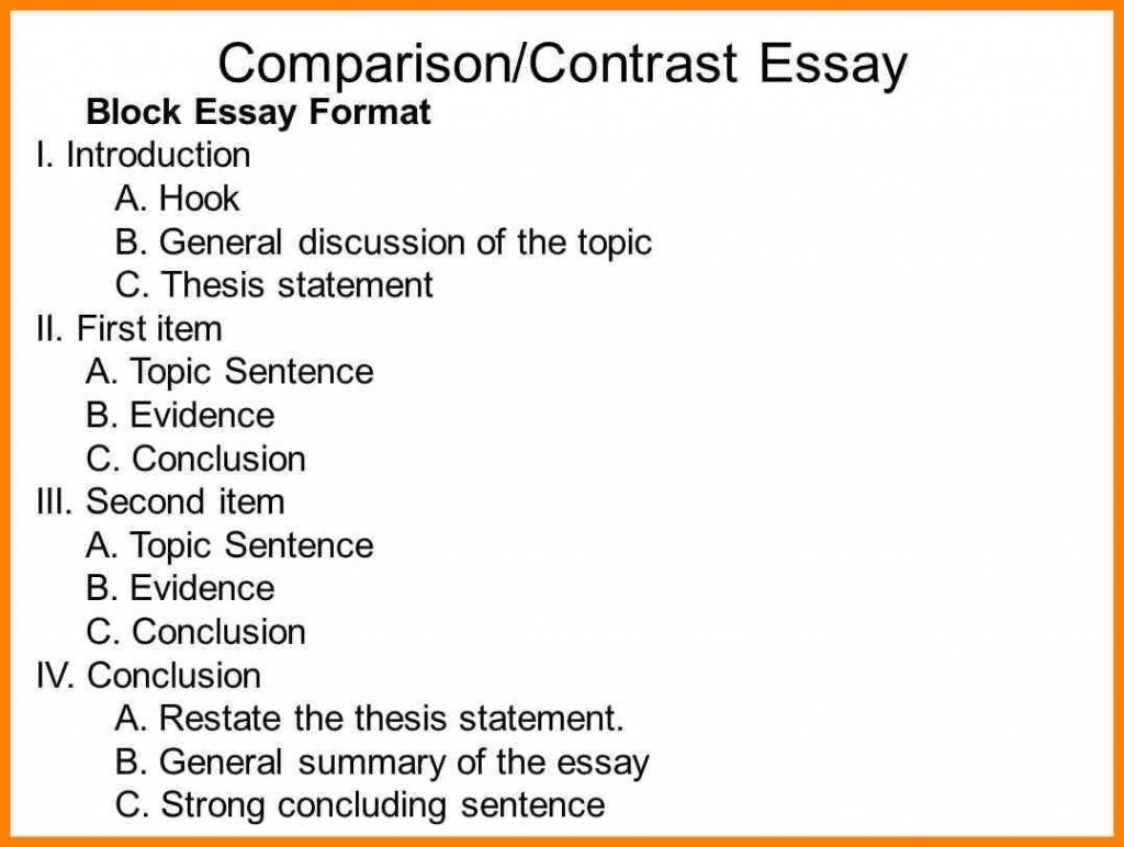 016 Compare Contrast Essay Outline For Slide Entire Visualize Bleemoo Innd Block Method Example How To Awesome A And Create An Large