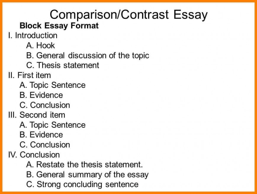Compare and contrast topics for an essay