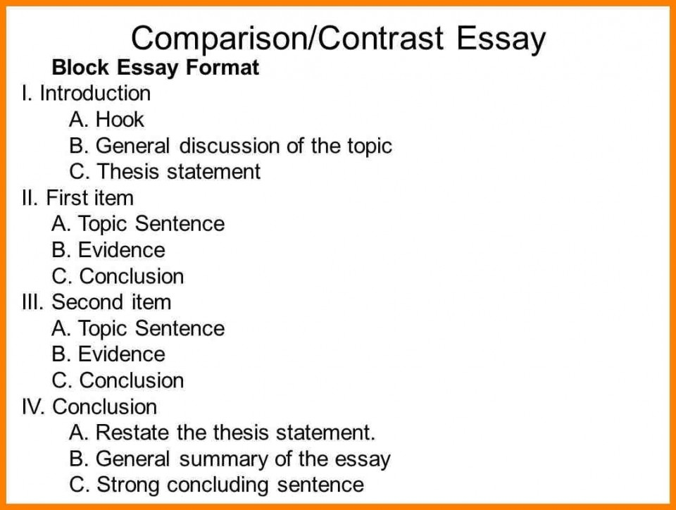 016 Compare Contrast Essay Outline For Slide Entire Visualize Bleemoo Innd Block Method Example How To Awesome A And Create An 960