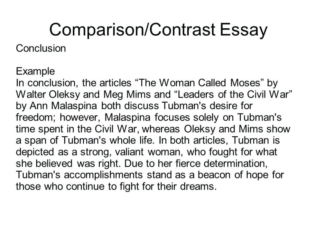 016 Comparison Contrast Essay Examples Example Co Surprising Compare High School Pdf Middle Large