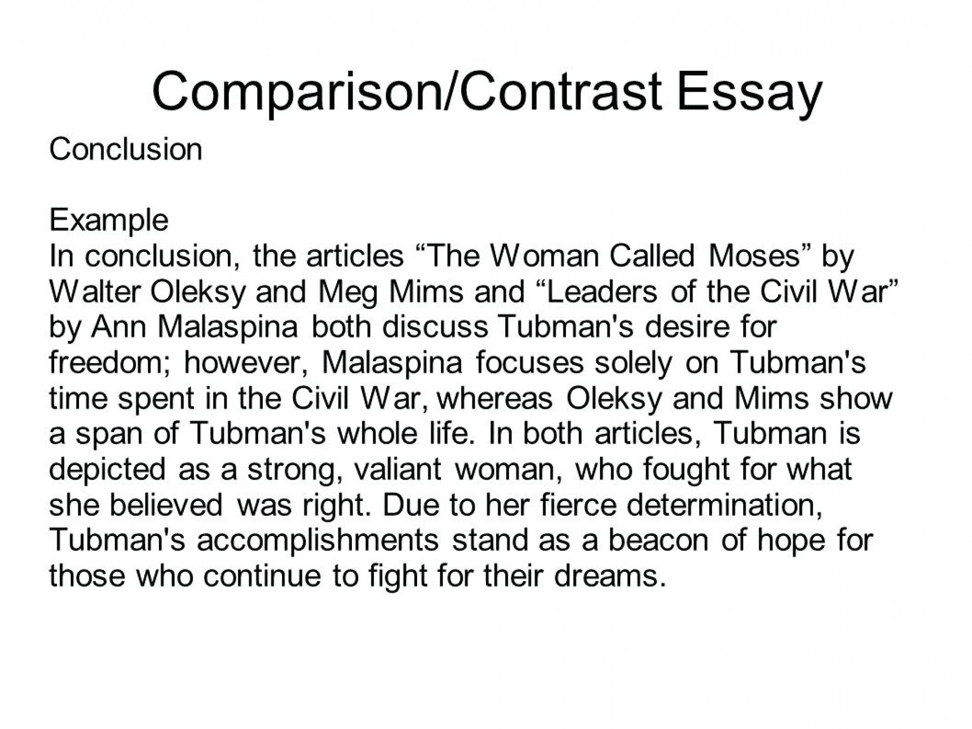 016 Comparison Contrast Essay Examples Example Co Surprising Compare High School Pdf Middle 1920